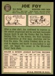 1967 Topps #331  Joe Foy  Back Thumbnail