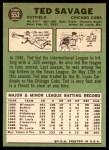 1967 Topps #552  Ted Savage  Back Thumbnail