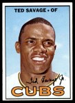 1967 Topps #552  Ted Savage  Front Thumbnail