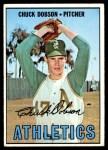 1967 Topps #438  Chuck Dobson  Front Thumbnail