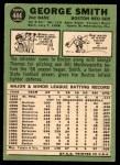 1967 Topps #444  George Smith  Back Thumbnail