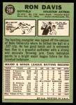 1967 Topps #298 xDOT Ron Davis  Back Thumbnail