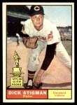 1961 Topps #77  Dick Stigman  Front Thumbnail