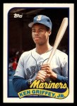 1989 Topps Traded #41 T Ken Griffey Jr.  Front Thumbnail