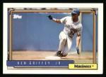 1992 Topps #50  Ken Griffey Jr.  Front Thumbnail