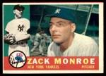 1960 Topps #329  Zack Monroe  Front Thumbnail