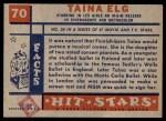 1957 Topps Hit Stars #70  Taina Elg   Back Thumbnail