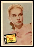 1957 Topps Hit Stars #75  Betty Lou Keim   Front Thumbnail