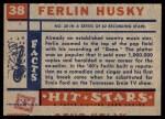 1957 Topps Hit Stars #38  Ferlin Husky   Back Thumbnail