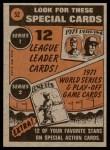 1972 Topps #52   -  Harmon Killebrew In Action Back Thumbnail