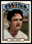 1972 Topps #201  Phil Roof  Front Thumbnail