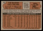 1972 Topps #767  Tom McCraw  Back Thumbnail