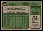 1974 Topps #506  Ed Farmer  Back Thumbnail