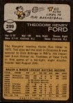 1973 Topps #299  Ted Ford  Back Thumbnail