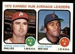 1973 Topps #65   -  Steve Carlton / Luis Tiant ERA Leaders Front Thumbnail