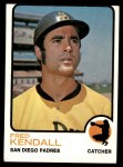 1973 Topps #221  Fred Kendall  Front Thumbnail