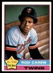 1976 Topps #400  Rod Carew  Front Thumbnail