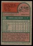 1975 Topps #467  Ed Halicki  Back Thumbnail