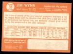 1964 Topps #38  Jim Wynn  Back Thumbnail