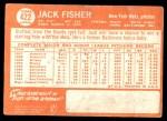 1964 Topps #422  Jack Fisher  Back Thumbnail
