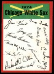 1974 Topps Red Team Checklist   White Sox Team Checklist Front Thumbnail