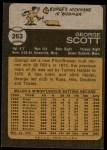 1973 Topps #263  George Scott  Back Thumbnail