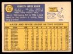 1970 Topps #525  Jerry Adair  Back Thumbnail