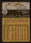 1973 Topps #135  Lee May  Back Thumbnail