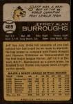 1973 Topps #489  Jeff Burroughs  Back Thumbnail