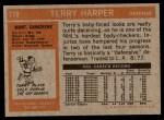 1972 Topps #119  Terry Harper  Back Thumbnail