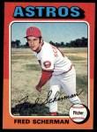 1975 Topps #252  Fred Scherman  Front Thumbnail