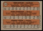 1972 Topps #474   -  Don Baylor / Roric Harrison / Johnny Oates Orioles Rookies   Back Thumbnail