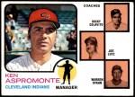 1973 Topps #449 ORG  -  Ken Aspromonte / Rocky Colavito / Joe Lutz / Warren Spahn Indians Leaders Front Thumbnail