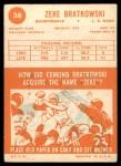 1963 Topps #38  Zeke Bratkowski  Back Thumbnail