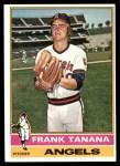 1976 Topps #490  Frank Tanana  Front Thumbnail