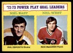 1973 Topps #6   -  Phil Esposito / Rick MacLeish Power Play Goals  Front Thumbnail