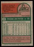 1975 Topps #48  Freddie Patek  Back Thumbnail