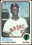 1973 Topps #597  Mickey Rivers  Front Thumbnail