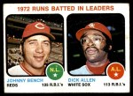 1973 Topps #63   -  Johnny Bench / Rich Allen RBI Leaders Front Thumbnail