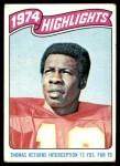 1975 Topps #460   -  Emmitt Thomas  Highlights Front Thumbnail