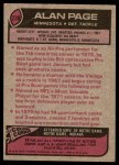 1977 Topps #230  Alan Page  Back Thumbnail