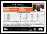 2005 Topps #3 T Tab Perry  Back Thumbnail