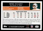 2005 Topps #2 T Mike Nugent  Back Thumbnail