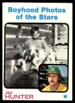 1973 Topps #344   -  Catfish Hunter Boyhood Photo Front Thumbnail