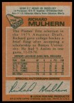 1978 Topps #256  Richard Mulhern  Back Thumbnail