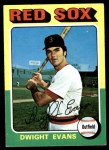 1975 Topps #255  Dwight Evans  Front Thumbnail