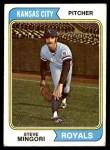 1974 Topps #537  Steve Mingori  Front Thumbnail
