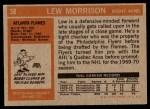 1972 Topps #58  Lew Morrison  Back Thumbnail