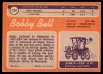 1970 Topps #154  Bobby Bell  Back Thumbnail