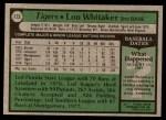 1979 Topps #123  Lou Whitaker  Back Thumbnail